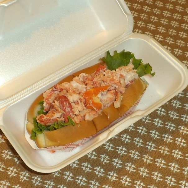One of our favorite summer indulgences - lobster rolls from Lone Oak in Rochester, New Hampshire.