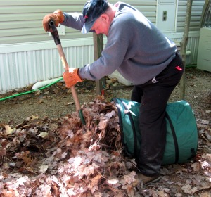 Here's Ray's technique for removing leaf piles.