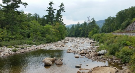 Photo along the Kancamagus Highway in NH