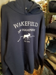 There are t-shirts and sweatshirts with local names.